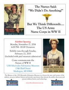 WWII Nurses exhibit poster