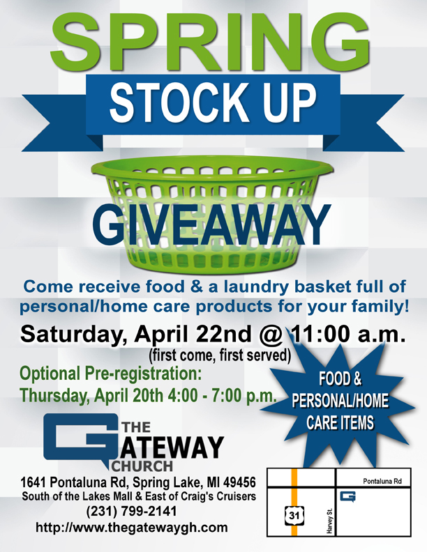 spring stock up giveaway